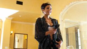 Emmanuelle Chriqui Smiling In Black Transparent Dress