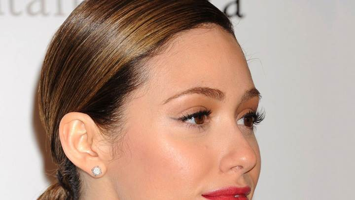 Emmy Rossum Side Face Closeup At Metropolitan Opera's Premier