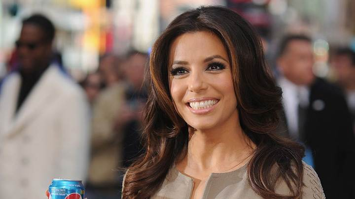 Eva Longoria Pepsi Cane In Hand At Pepsi Event