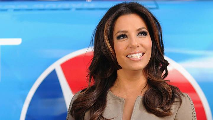 Eva Longoria Smiling On Stage At Pepsi Promotion Event