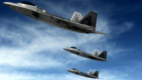 F 22 Raptors Stealth Fighters In Sky