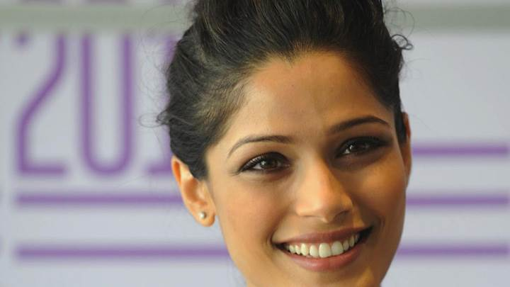 Freida Pinto At Dtff Black Gold Photocall