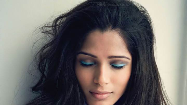 Freida Pinto Closed Eyes Photoshoot For Nylon Magazine