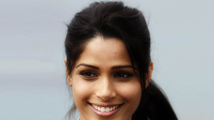Freida Pinto Face Closeup At Desert Dancer Photocall