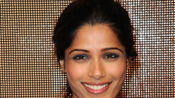 Freida Pinto Face Closeup At Marni Hm Collection Launch