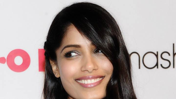 Freida Pinto Face Closeup At Nylon Magazine 13th Anniversary Celebration