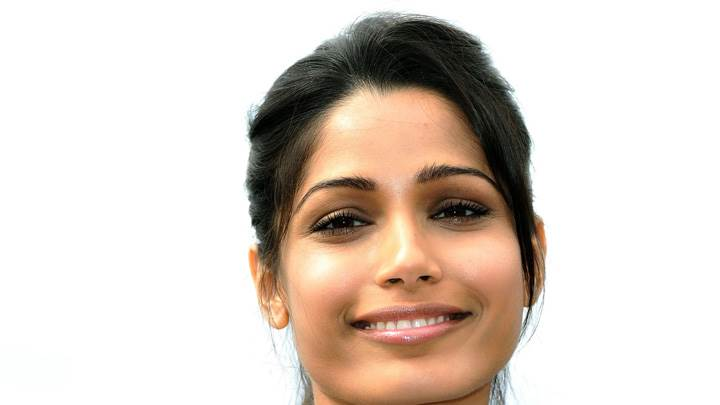 Freida Pinto Glossy Lips At Desert Dancer Photocall