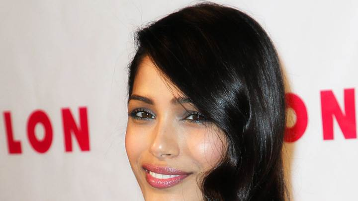 Freida Pinto Glossy Lips At Nylon Magazine Event
