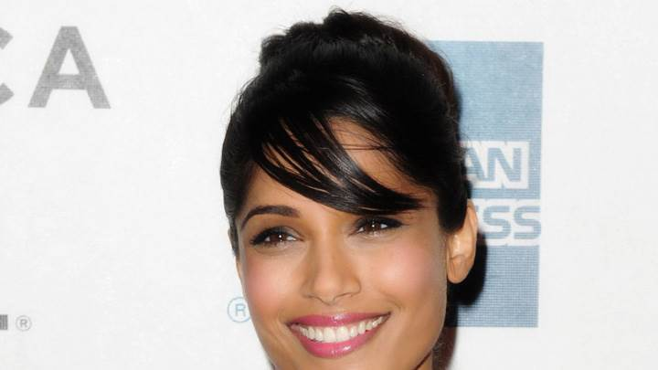 Freida Pinto Pink Lips At Tribeca Trishna Screening Event