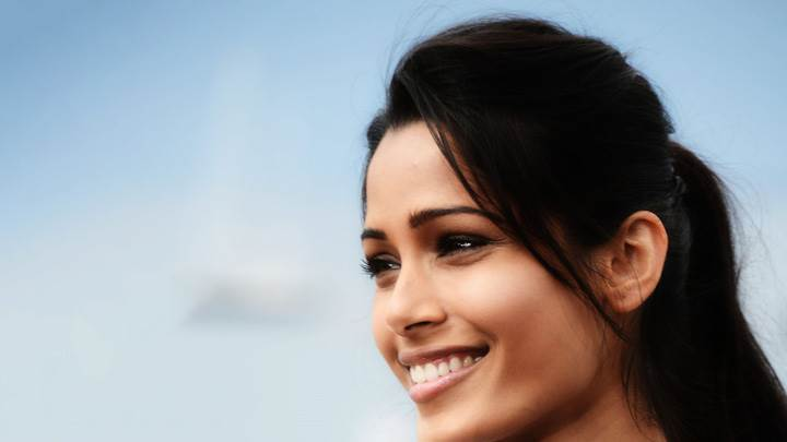Freida Pinto Side Face Closeup At Desert Dancer Photocall