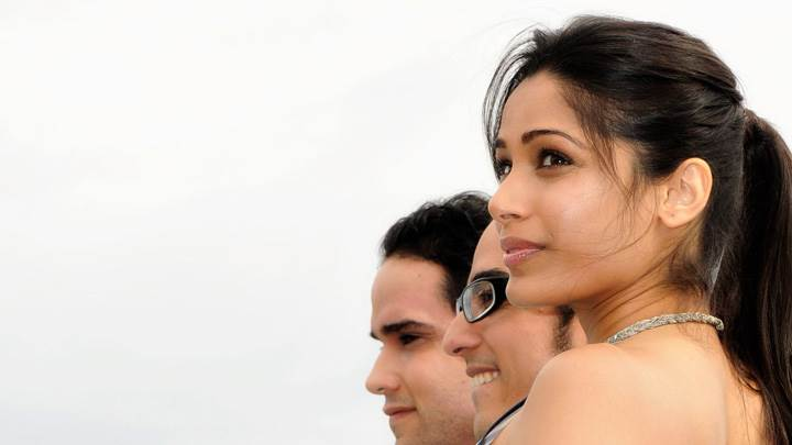 Freida Pinto Side Pose At Desert Dancer Photocall