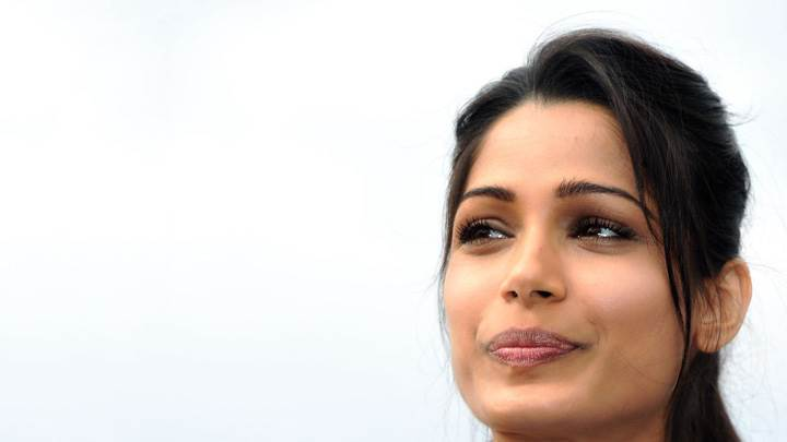 Freida Pinto Smiling At Desert Dancer Photocall