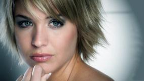 Gemma Atkinson Glossy Lips Face Close