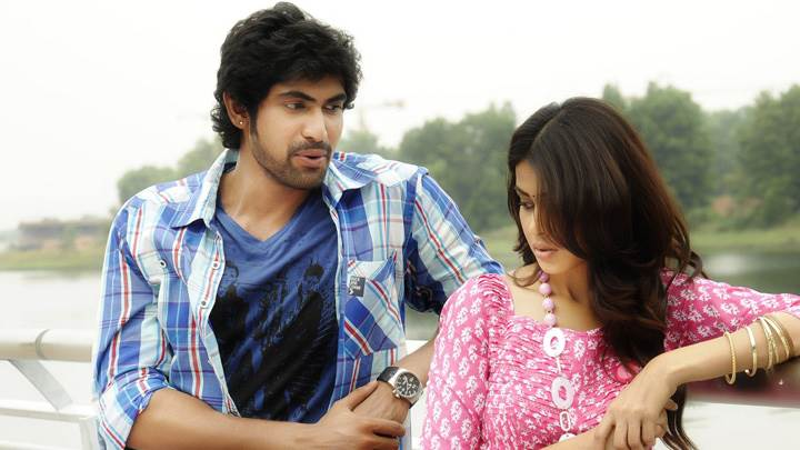 Genelia D'Souza And Rana Daggubati Standing On Bridge In Naa Ishtam