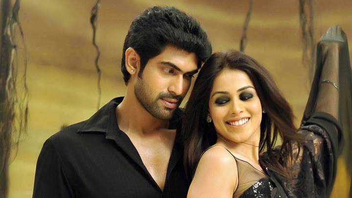 Genelia D'Souza Smiling And Rana Daggubati In Naa Ishtam