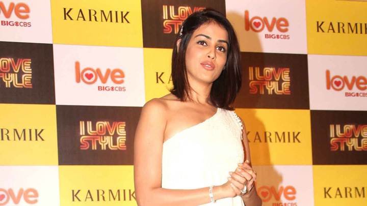 Genelia D'souza On Stage At Big Cbs Love Press Meet