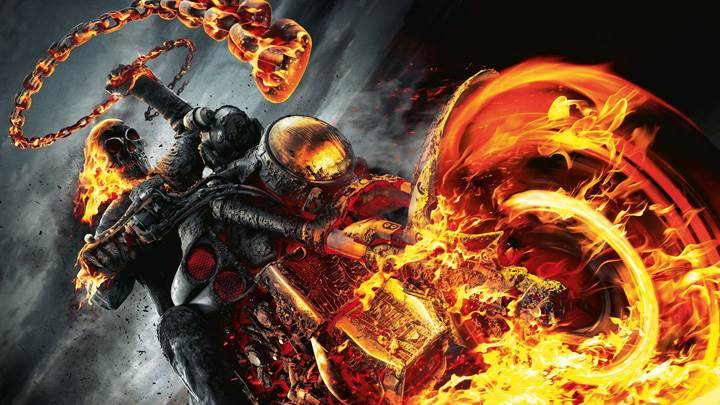 Ghost Rider – Riding On Burning Bike