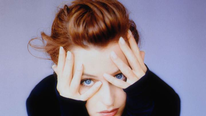 Gillian Anderson Face Closeup At Alberto Tolot Photoshoot