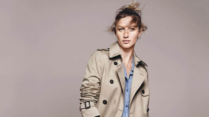 Gisele Bundchen In Coat At Esprit Summer