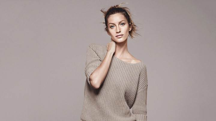 Gisele Bundchen In Woollen Top At Esprit Summer