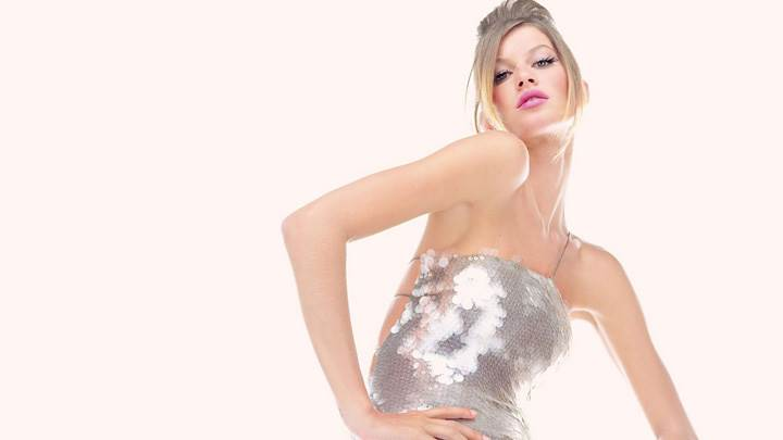 Gisele Bundchen Modeling Pose Photoshoot N White Background