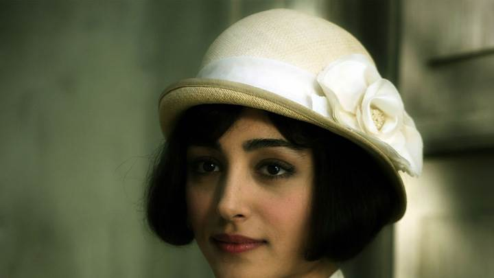 Golshifteh Farahani In White Hat Innocent Face Closeup