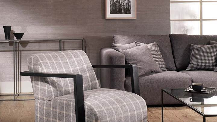 Grey Sofa Set And Black And Grey Interior