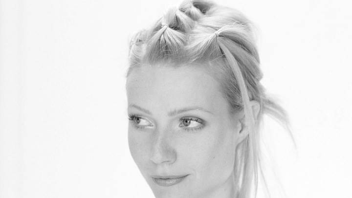 Gwyneth Paltrow Black N White Face Closeup At Robert Fleischauer Photoshoot