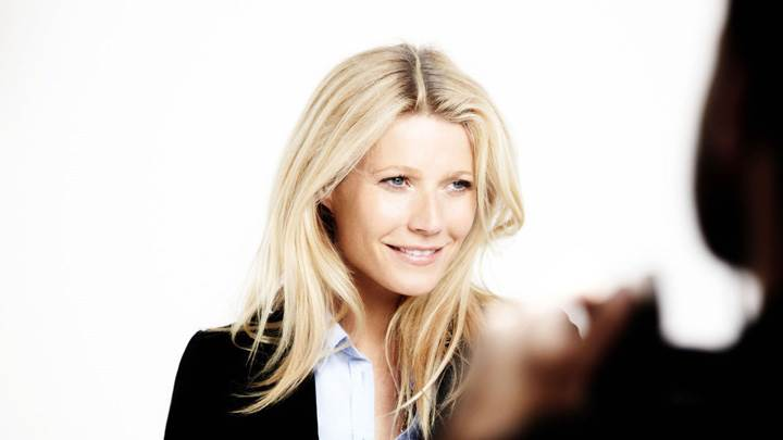 Gwyneth Paltrow Smiling At Lindex Spring 2012 Modern Preppy Campaign