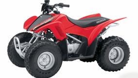 Honda TRX90EX In Red Side Pose