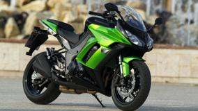 Kawasaki Z1000SX In Gren Side Pose