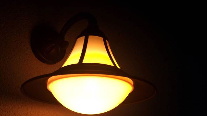 Lamp Closeup At Night