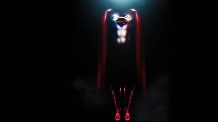 Man of Steel – Red Dress And Black Background