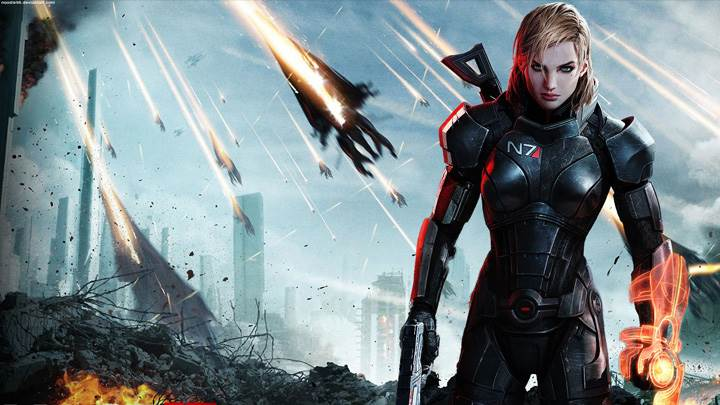 Mass Effect 3 – Female Shepard Gun In Hand