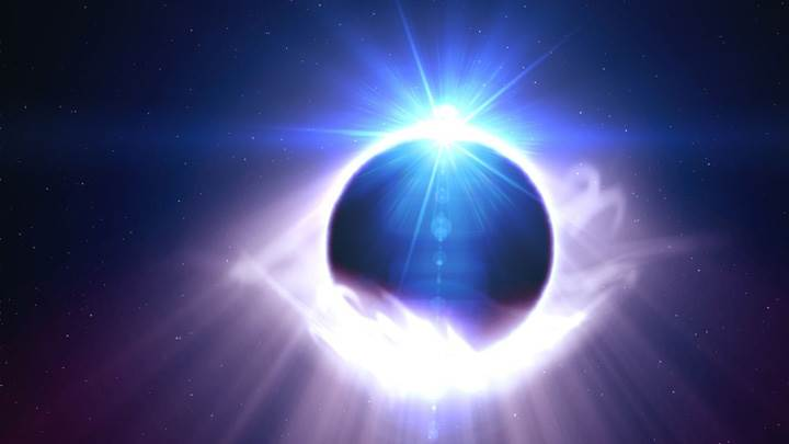 Mystic Eye And Blue Background