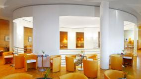 Orange And White Interior in Resturant