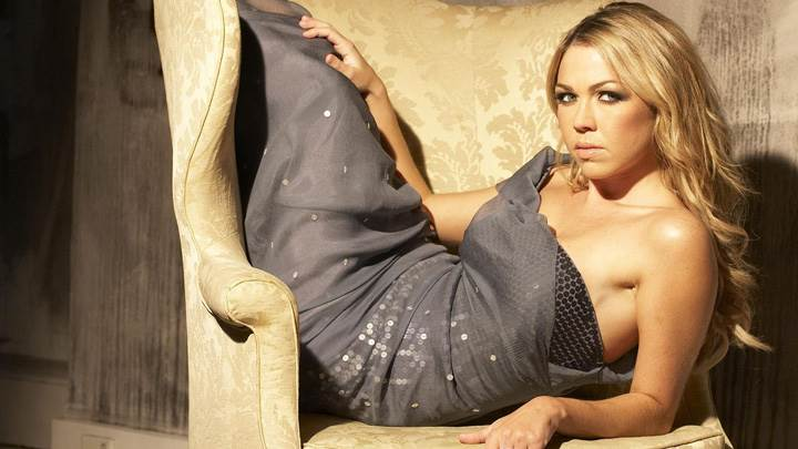 Photoshoot Of Adele Silva On Sofa