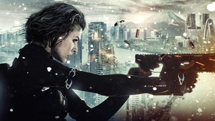 Resident Evil- Retribution – Milla Jovovich Gun In Hand Side Pose