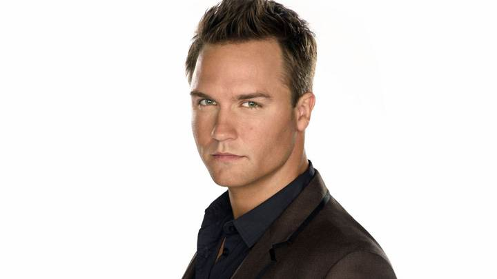 Scott Porter Looking At Camera And White Background