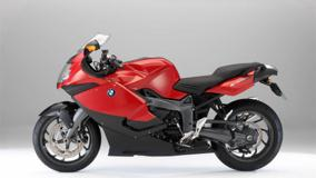 Side Pose Of BMW K1300S In Red