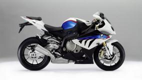 Side Pose Of BMW S1000RR In White