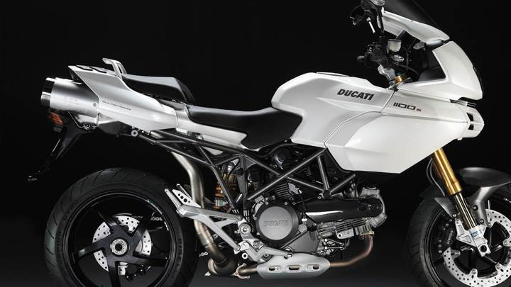 Side Pose Of Ducati Multistrada 1100S In White