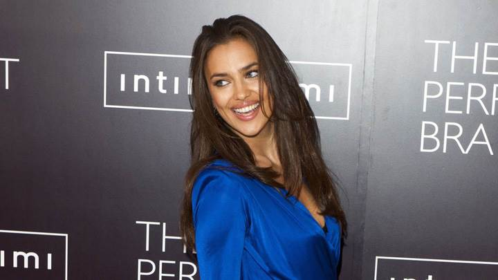 Smiling Irina Shayk At Intimissimi Perfect Bra Collection