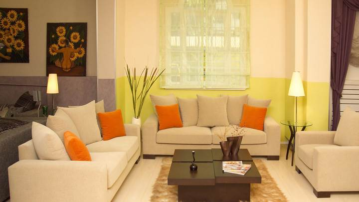 Sofa Set And Beautiful Scene of Interior
