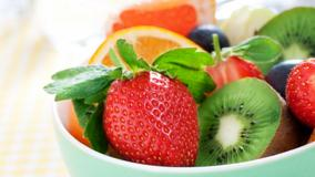 Strawberry In Bowl With Other Fruits