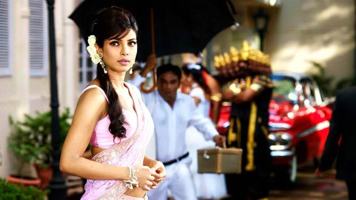 Teri Meri Kahaani – Priyanka Chopra In Pink Saree Side Pose