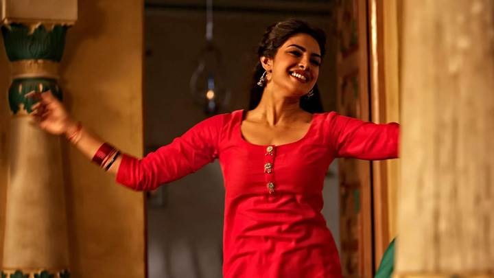 Teri Meri Kahaani – Priyanka Chopra Smiling In Red Dress