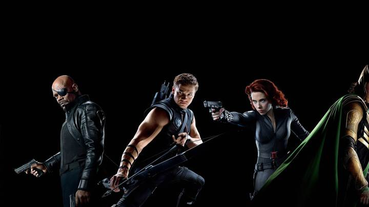 The Avengers – Four Characters On Black Background