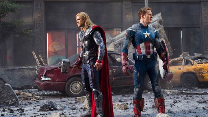 The Avengers – Chris Evans As Captain America And Chris Hemsworth As Thor