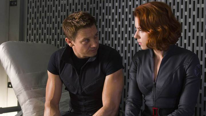 The Avengers – Jeremy Renner And Scarlett Johansson Sitting